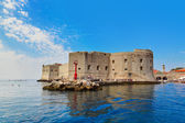 Fort at town Dubrovnik in Croatia — Stock Photo