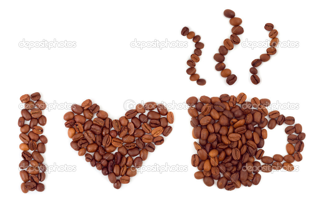 I love coffee isolated on white background — Stock Photo #6162505