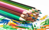 Number of colored pencils — Stock Photo