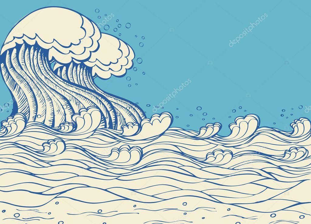 волны море графика