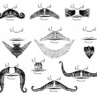 Royalty-Free Stock Vector Image: Mustaches for man.Vector collection on white for design