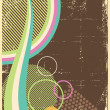 Grungy retro-background abstract with retro elements - Imagen vectorial