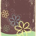 Vintage floral postacardfor design.Vector grunge image — Stock Vector