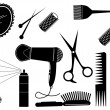 Hair Style Beauty Element.Vector salon - Stockvectorbeeld