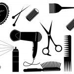 Hair Style Beauty Element.Vector salon — Stock Vector