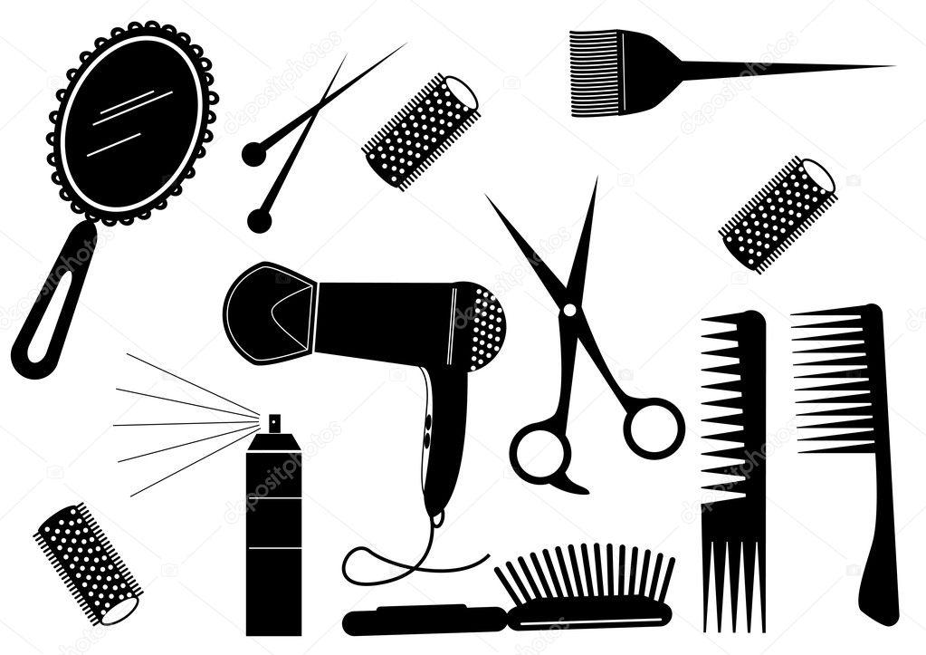 Hair style beauty element vector salon stock vector for Accesorios para salon de belleza