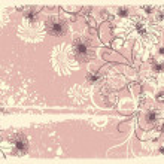 Vector floral decoration .Vintage flowers background — Stock Vector #5451213