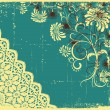 Vintage floral with grunge decoration .Flowers background - 图库矢量图片