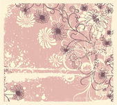 Vector floral decoration .Vintage flowers background — Stock Vector