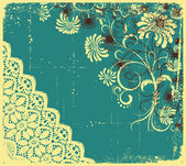 Vintage floral with grunge decoration .Flowers background — Stock Vector