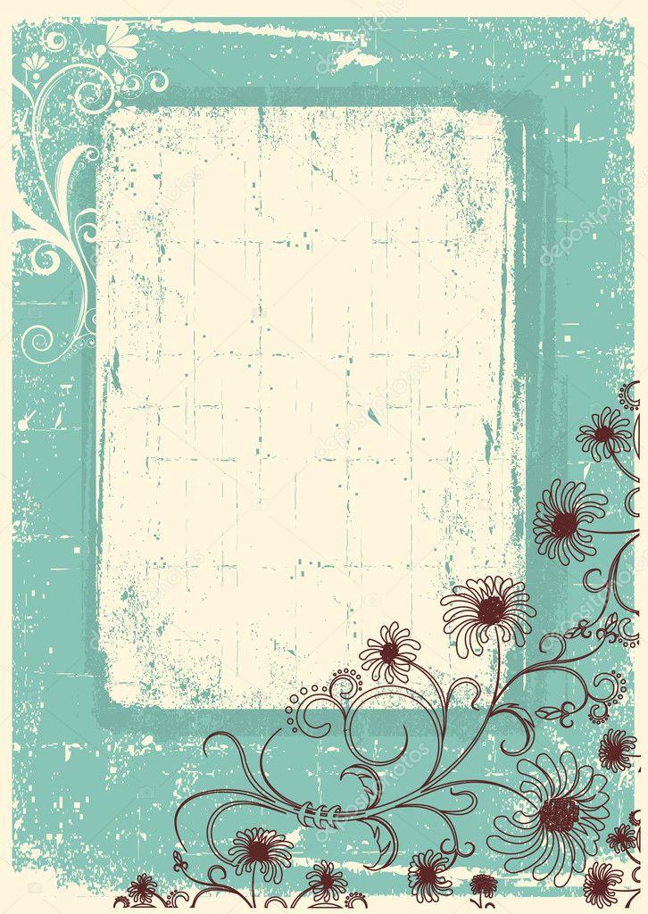 vintage blumen hintergrund mit grunge dekor rahmen f r text stockvektor geraktv 5465979. Black Bedroom Furniture Sets. Home Design Ideas