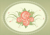Vector floral background with decor frame — Stock Vector