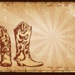 Cowboy old paper background for text with decor frame . — 图库照片