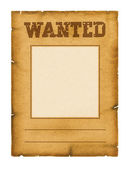 Wanted poster background for design on white — Stock Photo
