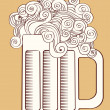 Beer.Vector graphic  Illustration of glass . - Stock Vector