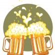 Royalty-Free Stock Vector Image: Glasses of beer.Vector color symbol of Illustration for design