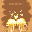 Glasses of beer.Vector color symbol of Illustration for design - Stock Vector