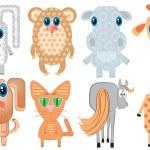 Постер, плакат: Animals Vector cartoons Illustrations on white for design