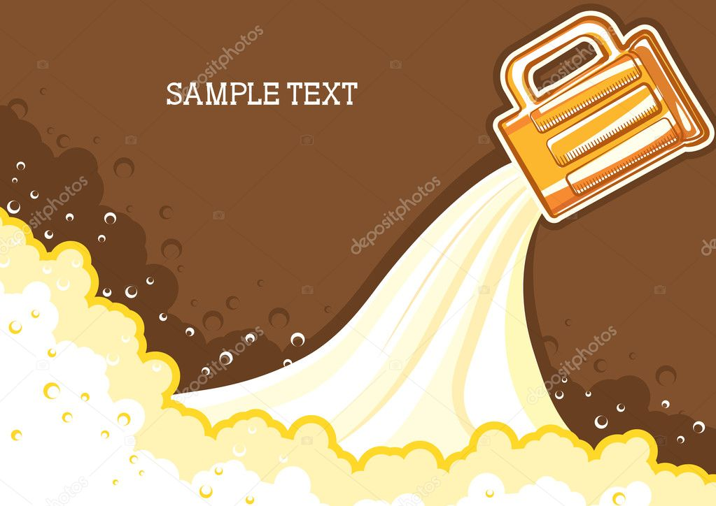 Glasses of beer.Vector color symbol of Illustration for design  Stock Vector #5650085