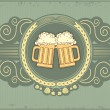 Beer background.Vector grunge postrard for text - Stock Vector