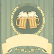 Beer background.Vector grunge postrard for text - Imagen vectorial