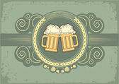 Beer background.Vector grunge postrard for text — Stock Vector