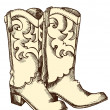 Cowboy boots .Vector graphic image — Stock Vector #5775979