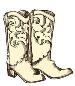 Cowboy boots .Vector graphic image — Stock Vector