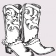 Cowboy boots .Vector graphic image — Stock Vector #5786227