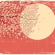 Royalty-Free Stock Vector Image: Flowing Sakura tree.Grunge image