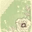 Vintage floral postcard .Flowers background for text — Imagen vectorial