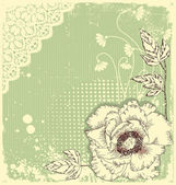 Vintage floral postcard .Flowers background for text — Stock Vector