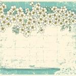 Vintage floral achtergrond met grunge decor frame voor tekst — Stockvector