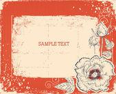 цветочная открытка с конфеты.векторные винтажные фон — Cтоковый вектор