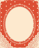 Vector vintage background with vintage frame — Stock Vector