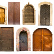 Old vintage doors from Lviv - Stock Photo