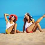 Girls at beach — Stock Photo #5432763