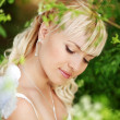 Angelic bride — Stock Photo