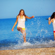 Stock Photo: Girls in water