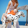 Family at beach — Stock Photo #6033573