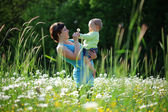 Happy mother with her child — Stock Photo