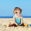 Child playing at the beach — Stock Photo #6069897