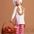 Little cute baker — Stock Photo