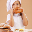 Stock Photo: Little cute baker