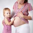 Royalty-Free Stock Photo: Pregnant mother with her daughter