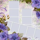 Fundo de verão com moldura e flores — Fotografia Stock