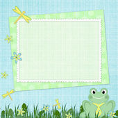 Framework for baby's photo — Stock Photo