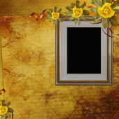 Framework for photo or invitation on the vintage background — Stock Photo