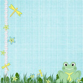 Background for children card — Stock Photo