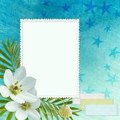 море поздравительной открытки — Стоковое фото